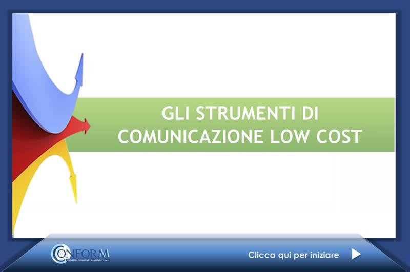 GLI STRUMENTI DI COMUNICAZIONE LOW COST