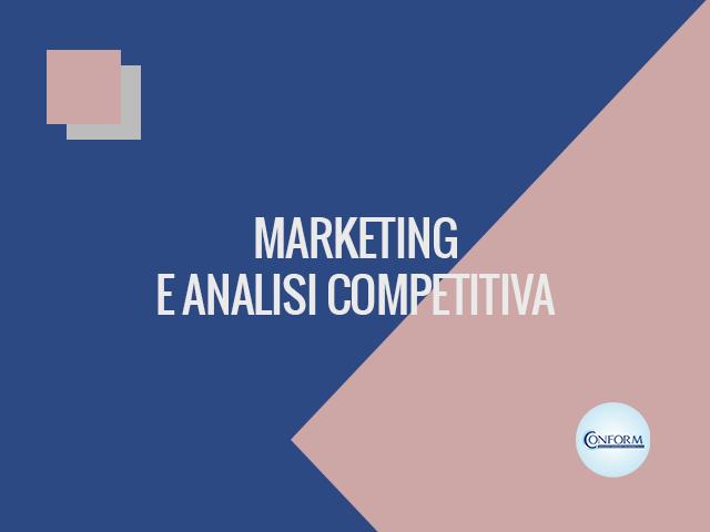 MARKETING E ANALISI COMPETITIVA