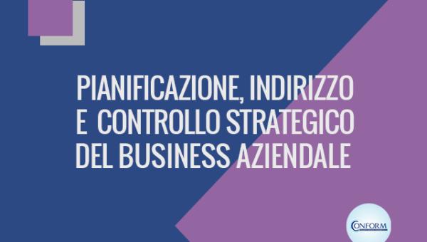 PIANIFICAZIONE, INDIRIZZO E CONTROLLO STRATEGICO DEL BUSINESS AZIENDALE
