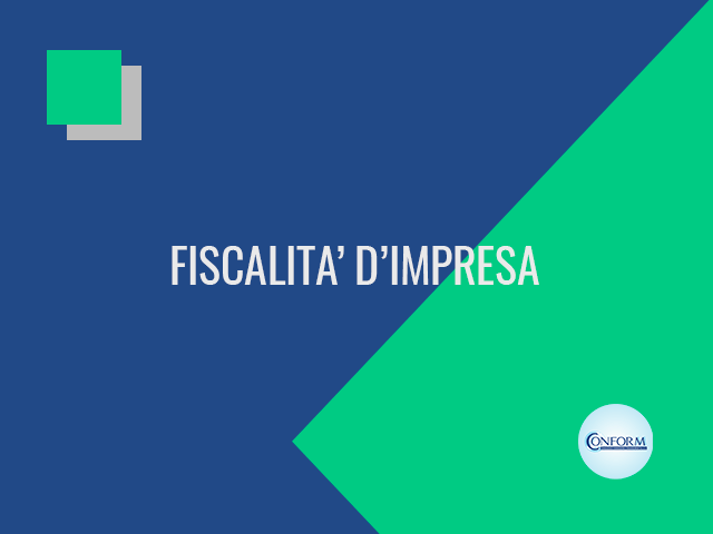 FISCALITA' D'IMPRESA