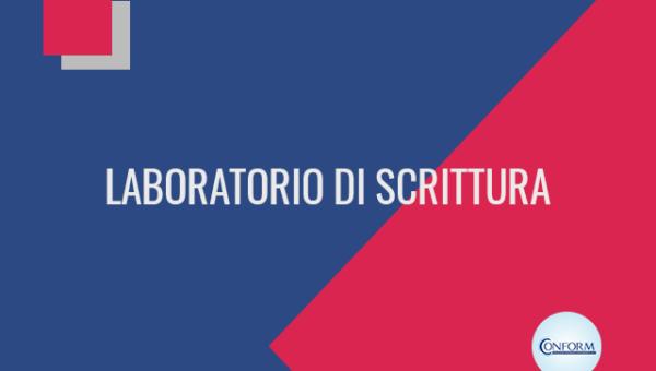 LABORATORIO DI SCRITTURA