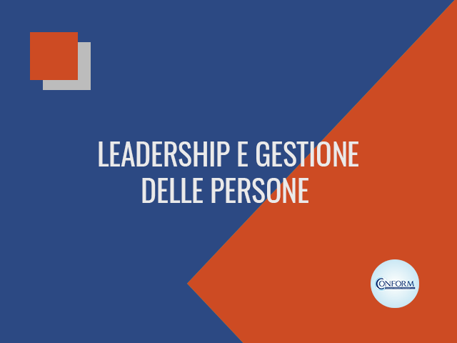 LEADERSHIP E GESTIONE DELLE PERSONE