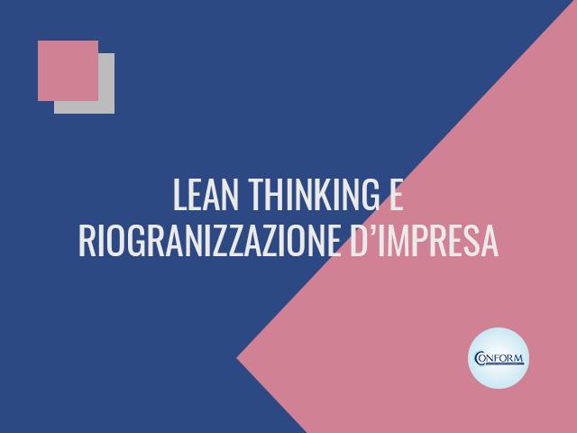 LEAN THINKING E RIOGRANIZZAZIONE D'IMPRESA