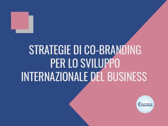 STRATEGIE DI CO-BRANDING PER LO SVILUPPO INTERNAZIONALE DEL BUSINESS