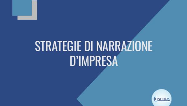 STRATEGIE DI NARRAZIONE D'IMPRESA